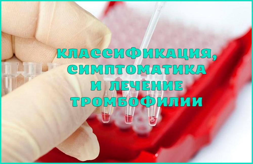 Что такое тромбофилия, какие симптомы и лечение