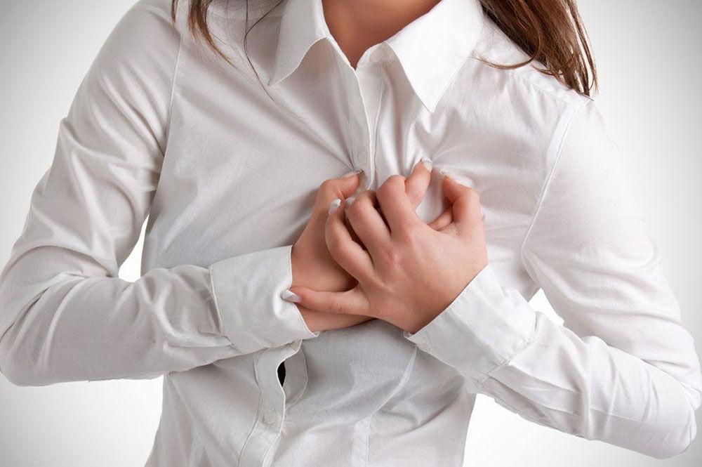 Давящий характер боли в груди