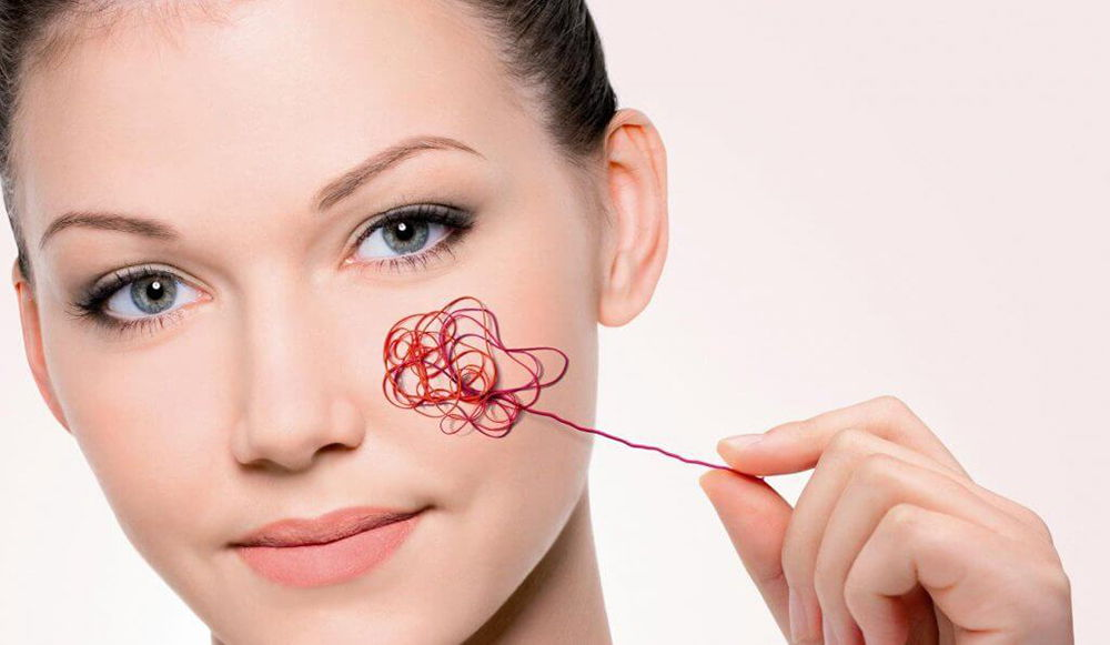 Разрыв капилляров на лице