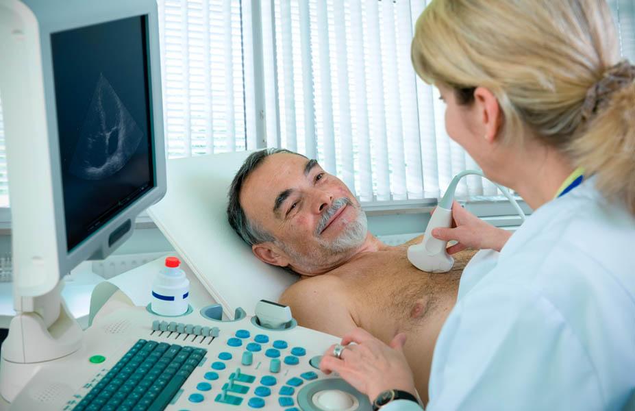 Проведение пациенту УЗИ сердца