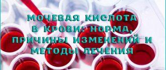 Мочевая кислота в крови: норма, причины изменений и методы лечений