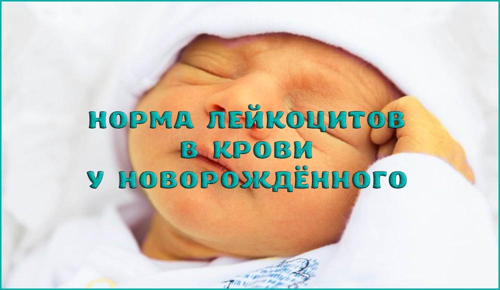 Причины повышенного содержания лейкоцитов у новорождённого