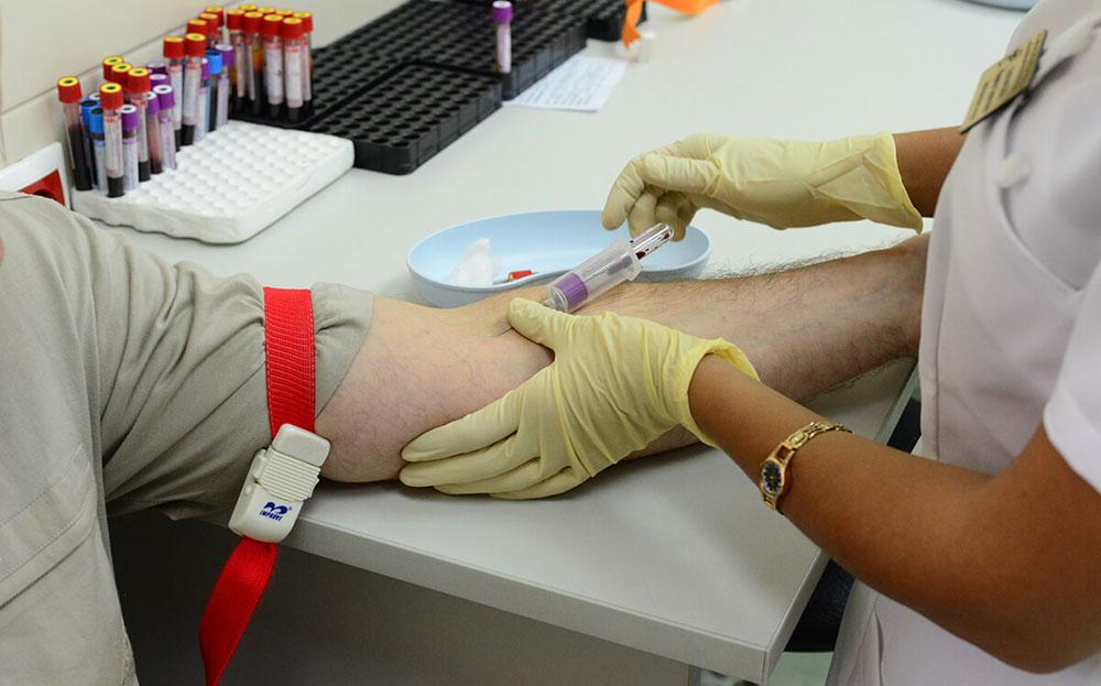 Забор анализа крови на обследование